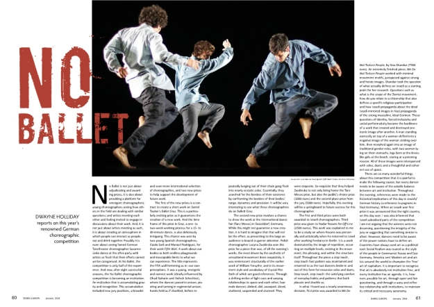 Fifth Corner on Dance Europe Magazine